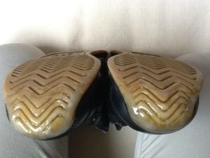 靴底修理つま先-直後